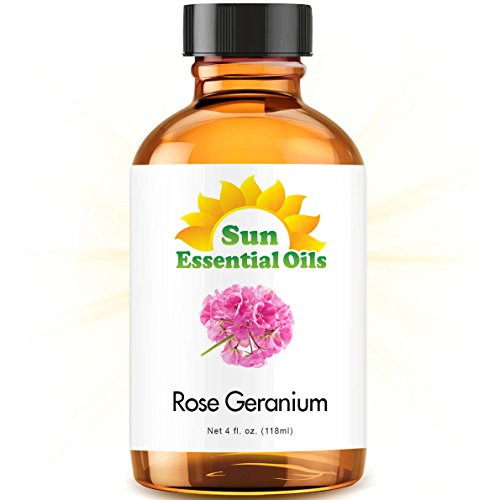 Rose Geranium Essential Oil (Huge 4oz Bottle) Bulk Rose Geranium Oil - 4 Ounce