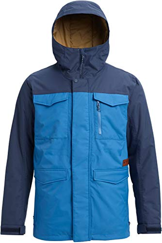 Burton Covert Insulated Snowboard Jacket Vallarta Blue/Mood Indigo Mens Sz L