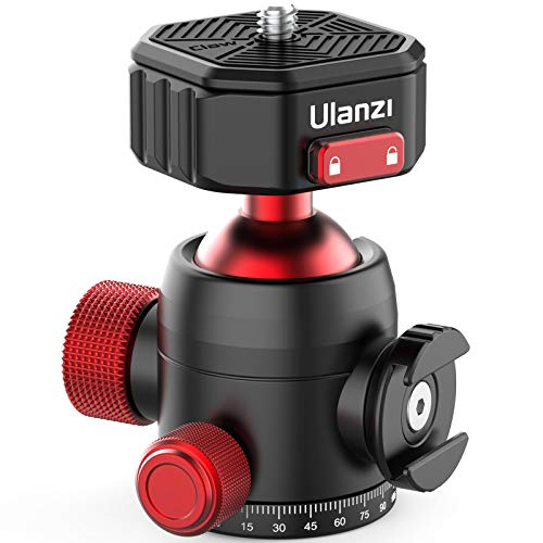 ULANZI Ball Head with Claw Super Quick Release Design, Professional Metal 360° Rotating Panoramic Ball Head with Cold Shoe, Up 44.1lbs Load, for Tripod,Monopod,Slider,DSLR Camera (U-100)
