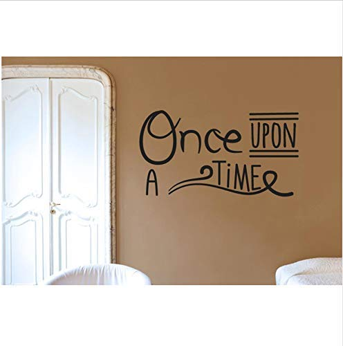 Art Home Decor Quotes Once Upon A Time Wall Decal Vinyl Sticker Dormitorio Living Room Decoration Poster Wallpaper 77X42Cm