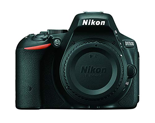 Nikon D5500 Wi-Fi Digital SLR Camera Body (Black) (Renewed)