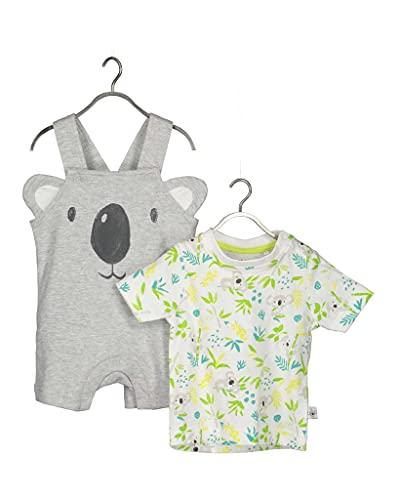Blue Seven Baby-Jungen Newborn Knaben 2er Set: Shirt +Latzhose Shorts, 920 Nebel Orig, 6-9 Months