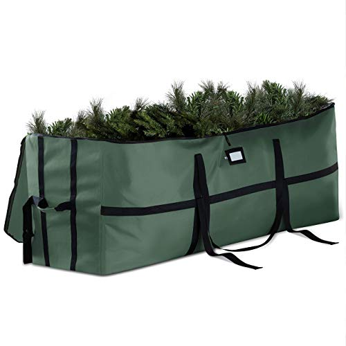 ZOBER Wide Opening Christmas Tree Storage Bag - Fits Upto 9ft. Tall Artificial Christmas Trees, Durable Straps & Reinforced Handles- Easy Access Xmas Bag - Tear Proof 600D Oxford- 5 Year Warranty