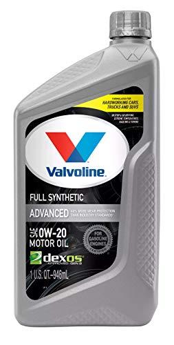 Valvoline Advanced Full Synthetic SAE 0W-20 Motor Oil 1 QT