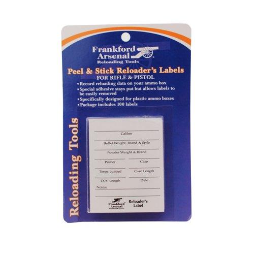 Frankford Arsenal Etiquetas adesivas para pistola de espingarda e rifle para caixas de munição e caixas de armazenamento – Pacote com 100