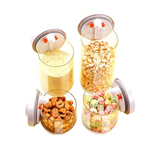 TBBA Dispensador De Polvo De Fórmula, Almacenamiento de Alimentos, Interruptor de pulsación de una tecla para Leche En Polvo, Snacks, Cereales