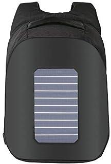 UponPak Unisex 5.3W Solar Energy Waterproof Laptop Backpack USB Charging Port 16 Inches PC Computer Leisure Travel School Bag Rucksack Bookbag 30L