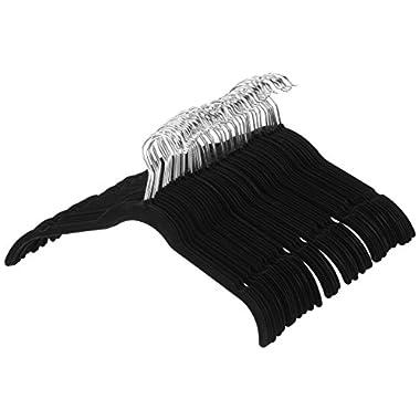 AmazonBasics Velvet Shirt/Dress Hangers - 100-Pack, Black