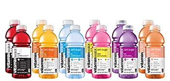 Vitamin Water ZERO Sugar | All Flavor Variety Pack  Sampler  - 20 fl Oz Bottles Nutrient Electrolyte Enhanced Flavored Drinking Water With Vitamins Rise Shine Ice Look Gutsy XXX | Pack of 12