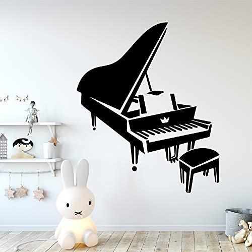 hetingyue Piano muurstickers verwijderbare muurdecoratie afneembare decoratieve vinyl muursticker