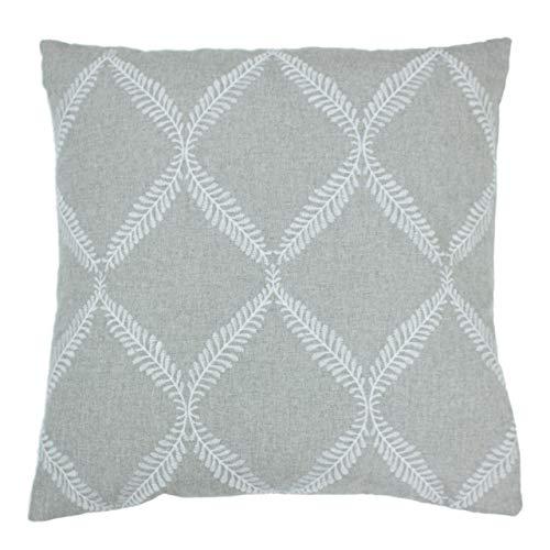 Paoletti Olivia Cushion Cover, Grey, 45 x 45cm