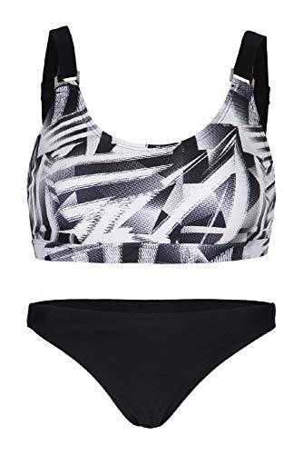 La-V Mädchen Bikini Zweiteilig Sport Schwarz B173/Größe 152/158