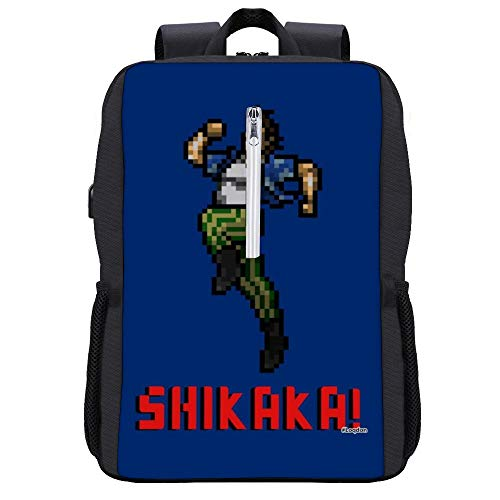 Ace Ventura Shikaka Pixellated Backpack Daypack Bookbag Laptop School Bag with USB Charging Port