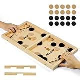 XCSOURCE Fast Sling Puck Game, Large Slingpuck Board,Winner Board Games for Kids & Adults,Portable Table Hockey Game for Family Game(22.1in x 11.6in)