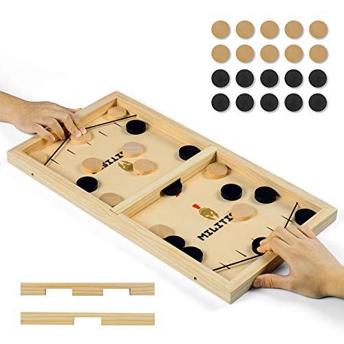 XCSOURCE Brettspiel Hockey,Fast Sling Puck-Spiel,Bouncing Brettspiel für Partyspiele und Familienaktivitäten,GGeeignet für Zwei Kinder oder Erwachsene, ausgestattet mit Zwei Farbteilen. (Groß)