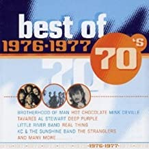 Best of 70's (40 songs on 2 CDs) HARPO - Movie Star / BONNIE TYLER - Lost In France / TAVARES - Heaven Must Be Missing An Angel / REAL THING - You To Me Are Everything / BROTHERHOOD OF MAN - Save Your Kisses For Me / JOHNNY WAKELIN - In Zaire / OSIBISA - Sunshine Day / KC & THE SUNSHINE BAND - Keep It Comin' Love / BRASS CONSTRUCTION - Movin' / JESSE GREEN - Nice And Slow / DOROTHY MOORE - Misty Blue / BARRY BIGGS - Sideshow / LITTLE RIVER BAND - It's A Long Way There / SYLVERS - Boogie Fever / WURZELS - Combined Harvester / STEVE HARLEY - Here Comes The Sun / JIMMY JAMES & THE VAGABONDS - Now Is The Time / JOHNNY