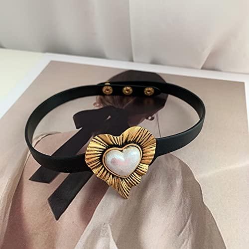 N/A Collar Hoja De Loto Francés Realmente Retro Antiguo Amor Textura Tridimensional Melocotón Corazón Ins Pendientes Perforados Mujer Regalo Parejas Y Amigos