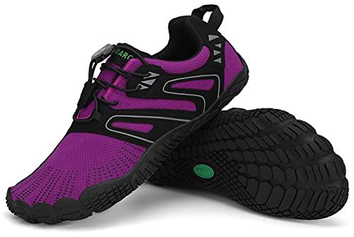 SAGUARO Barefoot Zapatillas de Trail Hombre Escarpines Mujer Zapatos de Agua Minimalistas Zapatillas de Deporte Acuaticos Exterior Interior Morado 059 40