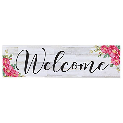 LifeSong Milestones Sign for livingroom entryway Kitchen Bedroom Wall Art Decor Print (Welcome Flowers)
