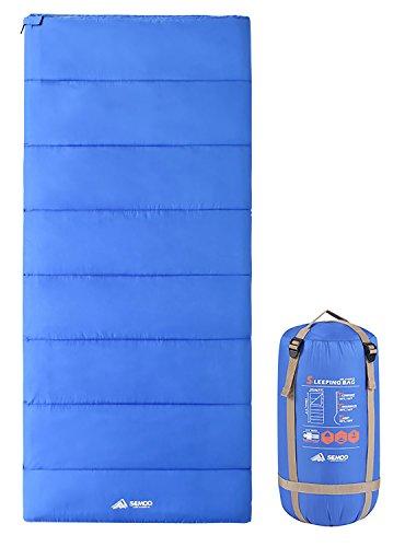 Semoo Deckenschlafsack - Leichter Kompakter Schlafsack Ideal für Frühling und Sommer - 190 x 84 cm / 1kg - Blau