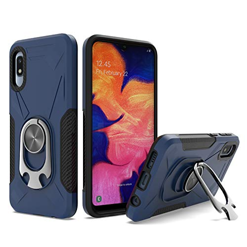 UNC Pro 2 in 1 Cell Phone Case w/Bottle Opener Kickstand for Samsung Galaxy A10E, TPU Hybrid Shockproof Bumper Anti-Scratch Dual Layer Case, Blue