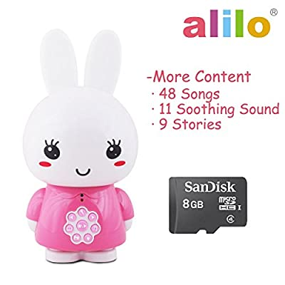 alilo Honey Bunny MP3 Player for Baby Sound Machine Learning Toys 8GB with Voice Recorder (Pink) by alilo