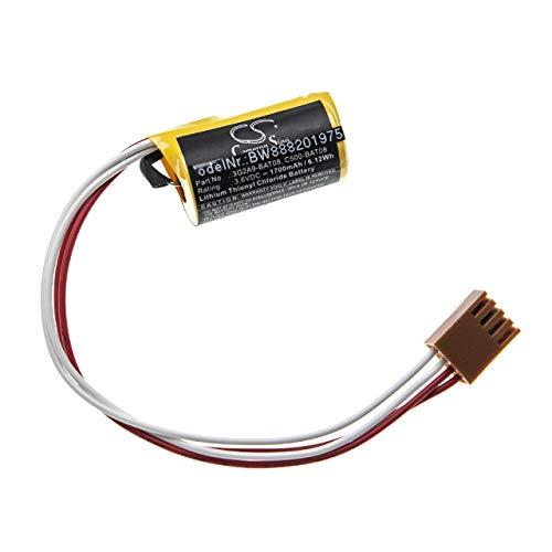 vhbw Batería reemplaza Omron 3G2A9-BAT08, C500-BAT08 para Controlador Lógico Programable, PLC (1700mAh, 3,6V, Li-SOCl2)