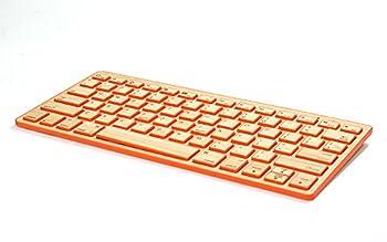 Impecca Bamboo Bluetooth Keyboard Orange  KBB78BTk