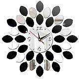 Orologi da Parete 3D,Orologio da Parete Silenzioso Preciso Fai da Te,DIY Stickers Numeri Romani Orologio da Parete Decorazione per Casa, Ufficio, Hotel