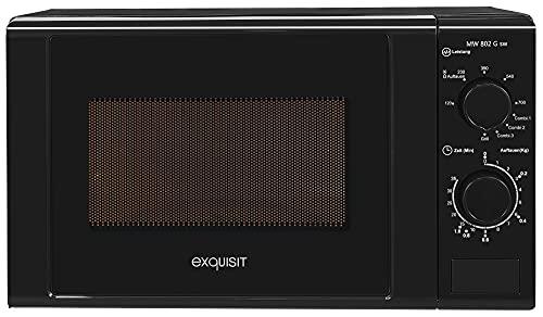 Exquisit Forno a microonde MW 802 G sw/potenza 700 W/grill 1000 W / 20 L/nero