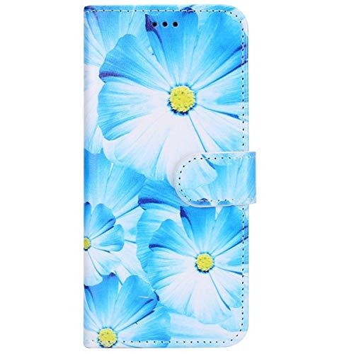 Surakey Cover iPhone 5/5S/SE, Serie di Marmo Flip Portafoglio Magnetica Cover Porta Carte Wallet Case in PU Pelle Pieghevole Stand Protettiva Cover a Libro per iPhone 5/5S/SE,Orchidea