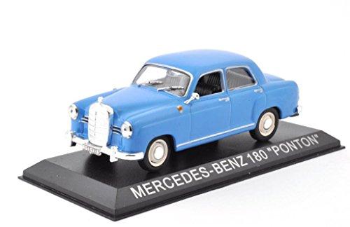DieCast Metall Modellauto 1:43 Mercedes Benz 180 Ponton blau