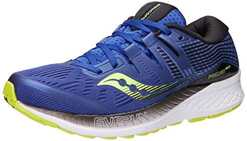 Saucony Men's Ride ISO Running Shoe, Navy/Citron, 10 M US