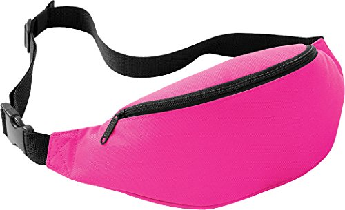 Bagbase Neon Pink Bum Bag. 8 Colours Available.