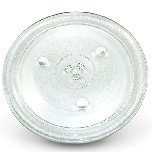 HQRP 12-3/8 inch Glass Turntable Tray Compatible with Hamilton Beach EM031M2ZC-X1 EM031M2ZC-X2 EM031M2ZC-X3 EM031M2ZC-X4 P100N30AP-S3B Microwave Oven Cooking Plate 315mm