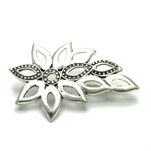 Sterling Silber Brosche Blume massiv 925 Empress