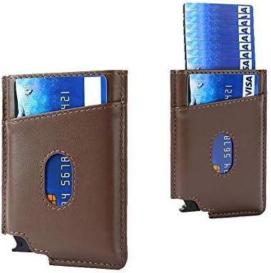 Pop Up Wallet – UpLook Card Holder Wallet RFID Mens Slim Wallet with Money Clip