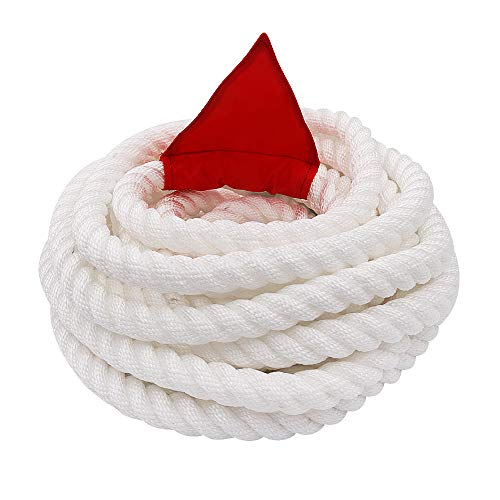 X XBEN Tug of War Rope with Flag for Kids, Teens and Adults, Soft Polypropylene Rope Games for Team Building Activities, Family Reunion, Birthday Party-35 Feet