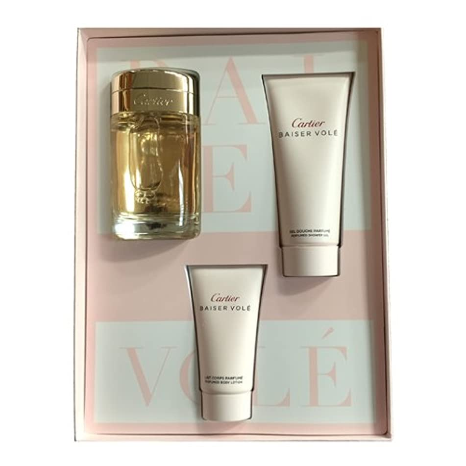 Cartier Baiser Vole by Cartier for Women 3 Piece Set Includes: 3.3 oz Eau de Parfum Spray + 1.6 oz Body Lotion + 3.3 oz Shower Gel
