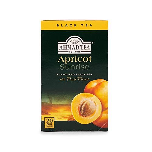 Ahmad Tea Apricot Sunrise Black Tea, 20 Tea Bags Boxes (Pack of 6)