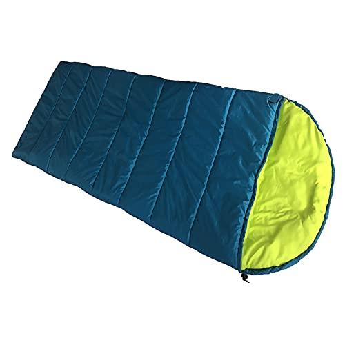 TAHUAON Bolsa de dormir sobre para clima cálido y fresco, impermeable, para adultos, camping, senderismo, viajes, interior y exterior (azul)