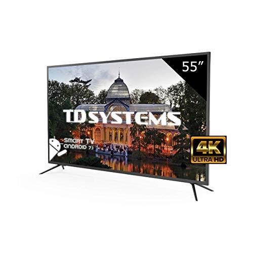 Televisores Led 55 Pulgadas Ultra HD 4K Smart TD Systems K55DLM8US. Resolución 3840 x 2160, 3X HDMI, VGA, USB, Smart TV.: Amazon.es: Electrónica