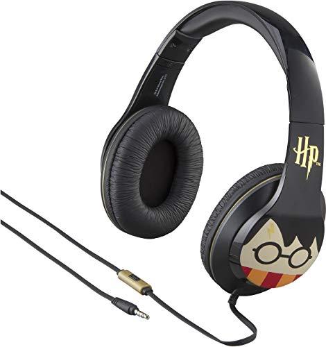 eKids RI-M40HP - Auriculares de Diadema con micrófono Incorporado, Color Negro y Dorado