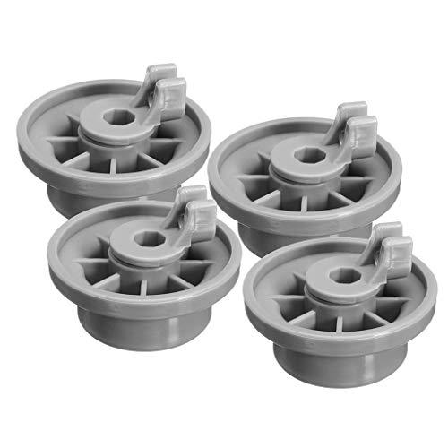 DEtrade 4X Geschirrkorbrolle Unten Grau Spülmaschine Roller AP2802428, 165314 Für BoschNeff/Siemens (Gray)