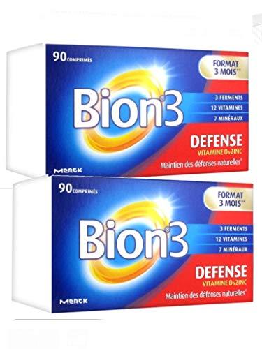 Bion 3 - Défense Adulte - Lot de 2 boites de 90 Comprimes (2D)
