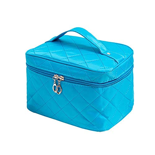 Sac Cosmétique Bag_Cosmetic Medium, Sac Cosmétique, Sac Carré Rhombique Bleu