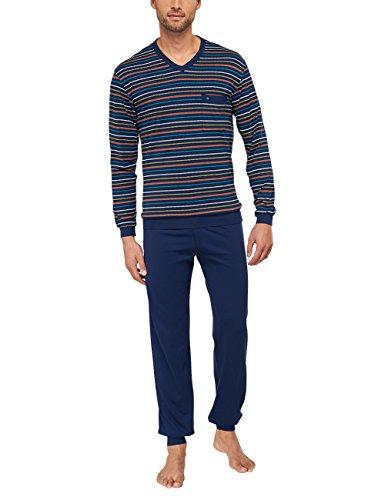 Seidensticker Herren Anzug Lang Zweiteiliger Schlafanzug, Blau (dunkelblau 803), XX-Large (Herstellergröße: 56)