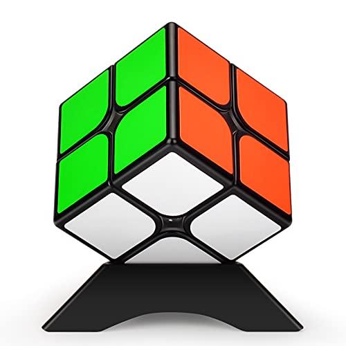 TOYESS Cubo Mágico ,Speed Cube 2x2 Rompecabezas Cubo de Velocidad Regalo de Adulto para Niños,Negro