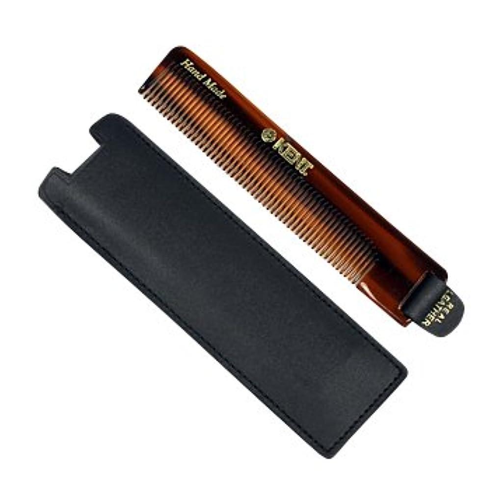 プレフィックス教育ベーカリーKENT ケント 携帯用 メンズ ポケット コーム NU22 ( 革タグ & 革ケース付 ) 英国製 英国王室御用達 [並行輸入品]
