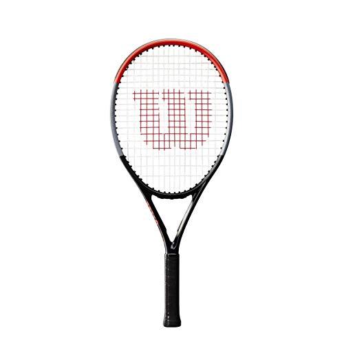 Wilson Tennisschläger, Clash 26, Kinder ab 11 Jahren, Graphit, schwarz/grau/rot, WR009010U